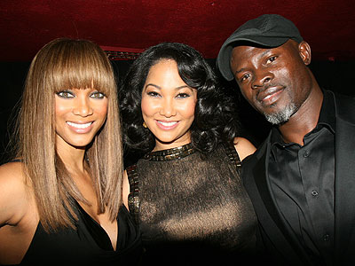 TYRA BANKS, KIMORA LEE SIMMONS AND DJIMON HOUNSOU photo | Djimon Hounsou, Kimora Lee Simmons, Tyra Banks