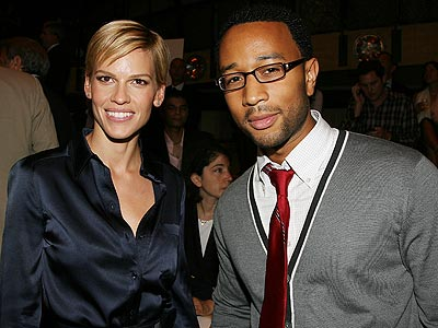 HILARY SWANK AND JOHN LEGEND photo | Hilary Swank, John Legend