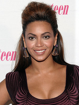 Beyonce in a Pompadour Hairstyle
