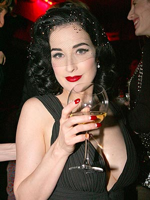 HALF-MOON MANICURE  photo | Dita Von Teese