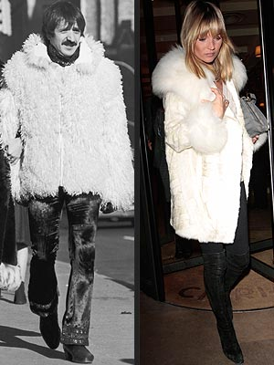 FUR THING photo | Kate Moss, Sonny Bono