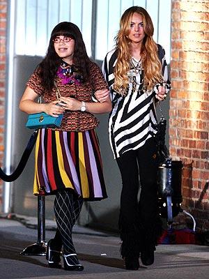AMERICA FERRERA AND LINDSAY LOHAN  photo | America Ferrera, Lindsay Lohan