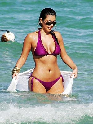 Kim Kardashian Sexy Swimsuit