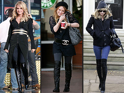 THIGH-HIGH BOOTS & JEANS photo | Carrie Underwood, Hilary Duff, Kate Moss
