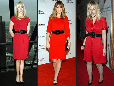 RED DRESSES & BLACK BELTS photo | Hayden Panettiere, Monet Mazur ...