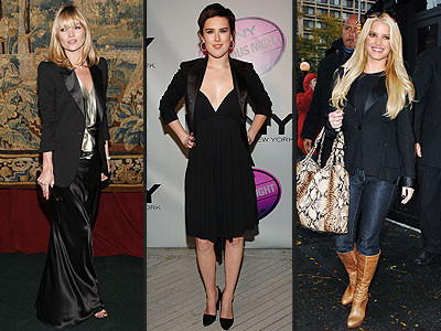 TUXEDO JACKETS  photo | Jessica Simpson, Kate Moss, Rumer Willis