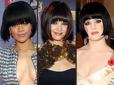 BANGED BOB  photo | Katie Holmes, Kelly Osbourne, Rihanna