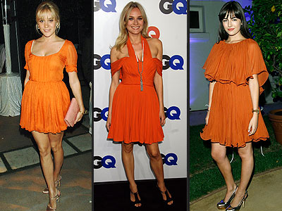 ORANGE DRESSES  photo | Camilla Belle, Chlo\u00EB Sevigny, Diane Kruger