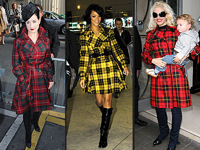 PLAID COATS photo | Dita Von Teese