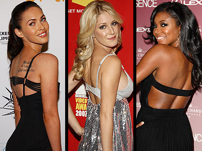 STRAP-BACK DRESSES  photo | Gabrielle Union, Heidi Montag, Megan Fox