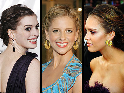 These celebrities are wearing Greek goddess hairstyles french hair braids
