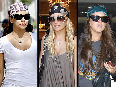 HEAD SCARVES  photo | Eva Longoria, Nicole Richie