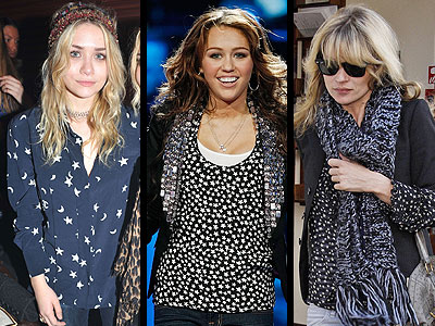 STAR-PRINT TOPS photo | Ashley Olsen, Kate Moss, Miley Cyrus