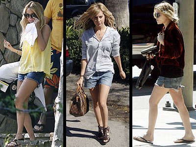 DENIM CUTOFFS  photo | Ashley Tisdale, Mary-Kate Olsen, Nicole Richie