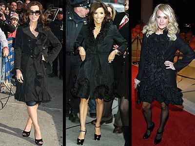 RUFFLED COATS photo | Carrie Underwood, Eva Longoria-Parker, Kate Beckinsale