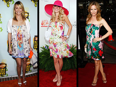 WATERCOLOR FLORAL DRESSES photo | Cameron Diaz, Heidi Montag