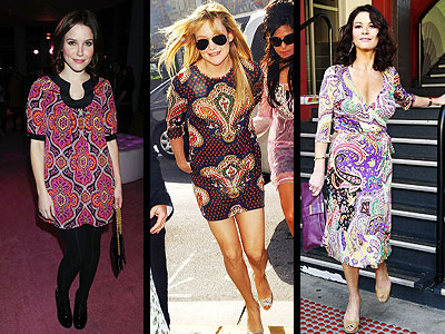PAISLEY DRESSES photo | Catherine Zeta-Jones, Kate Hudson, Sophia Bush