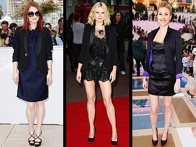 BLAZERS OVER DRESSES photo | Gwyneth Paltrow, Julianne Moore, Whitney Port