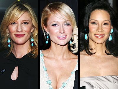 TURQUOISE EARRINGS photo | Cate Blanchett, Lucy Liu, Paris Hilton