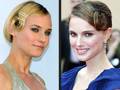 PIN CURLS  photo | Diane Kruger, Natalie Portman