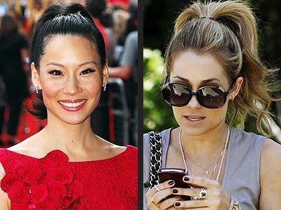 HIGH PONYTAILS  photo | Lauren Conrad, Lucy Liu