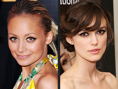 CAT-EYE EYELINER  photo | Keira Knightley, Nicole Richie