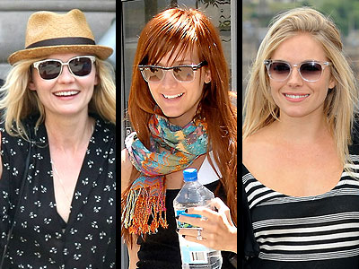 CLEAR SUNGLASSES photo | Ashlee Simpson, Kirsten Dunst, Sienna Miller