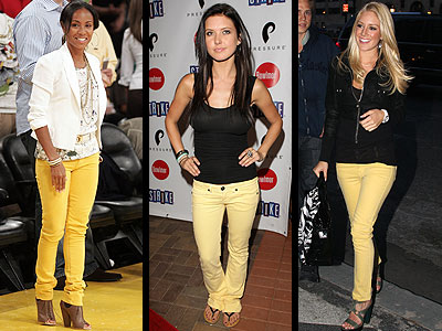 YELLOW DENIM  photo | Audrina Patridge, Heidi Montag, Jada Pinkett Smith