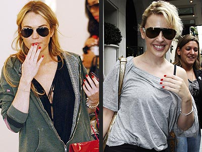 RED NAILS photo | Kylie Minogue, Lindsay Lohan
