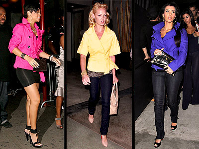 BRIGHT JACKETS photo | Katherine Heigl, Kim Kardashian, Rihanna