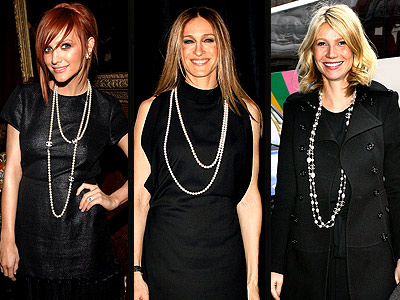 DOUBLE STRAND PEARLS photo | Ashlee Simpson, Gwyneth Paltrow, Sarah Jessica Parker