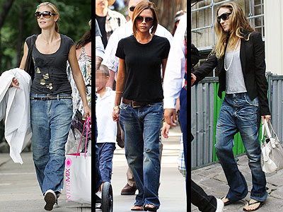 BAGGY JEANS  photo | Heidi Klum, Sarah Jessica Parker, Victoria Beckham