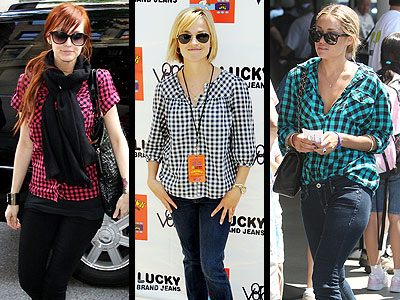 CHECKED SHIRTS  photo | Ashlee Simpson, Lauren Conrad, Reese Witherspoon