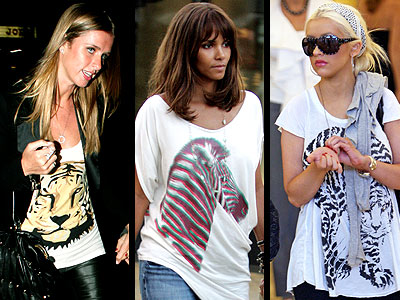 ANIMAL PRINT T-SHIRTS  photo | Halle Berry
