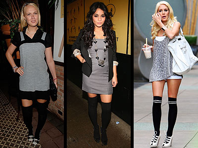 THIGH-HIGH SOCKS photo | Heidi Montag, Vanessa Hudgens