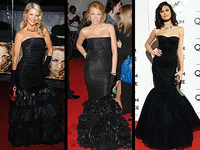 BLACK FISHTAIL GOWNS photo | Blake Lively, Christie Brinkley, Olga Kurylenko