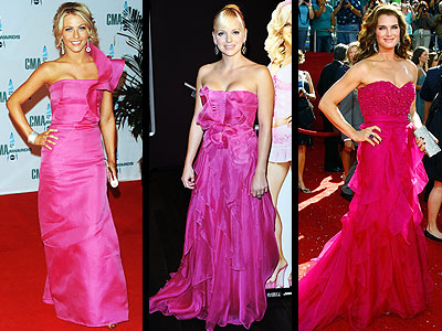 PINK GOWNS photo | Anna Faris, Brooke Shields, Julianne Hough
