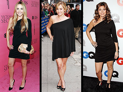 ONE-SLEEVE BLACK DRESSES photo | Amanda Bynes, Jamie-Lynn Sigler, Lauren Conrad