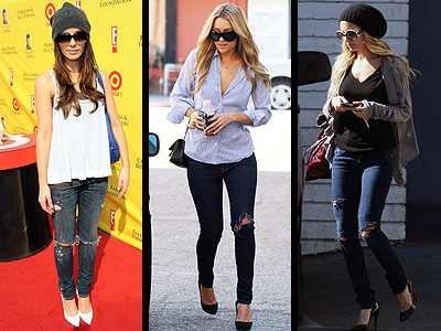 RIPPED JEANS  photo | Kate Beckinsale, Lauren Conrad, Nicole Richie