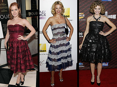 FULL-SKIRTED DRESSES  photo | Amy Adams, AnnaLynne McCord, January Jones