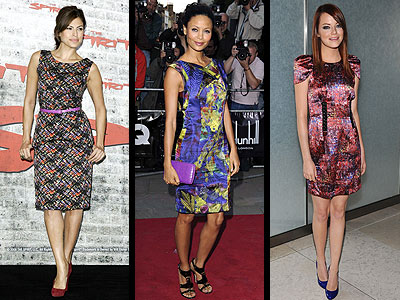 MULTICOLOR PRINTS photo | Emma Stone, Eva Mendes, Thandie Newton
