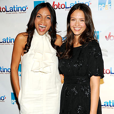 ROSARIO AND JESSICA'S DRESSES photo | Jessica Alba, Rosario Dawson