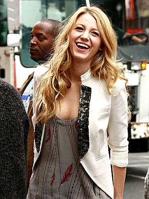 BLAKE LIVELY'S FEATHERED TANK photo | Blake Lively