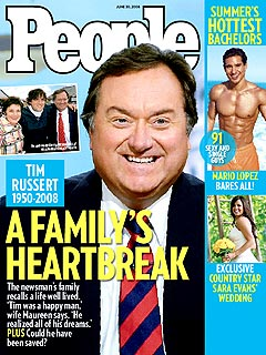 Tim Russert&#39;s Wife Opens Up About His Death