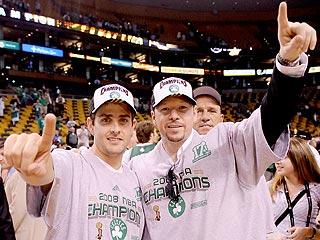 Stars Celebrate Boston's Big Win