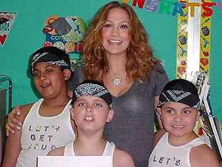 J.Lo Gives Special Performance at Staten Island  School