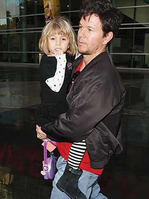 Mark Wahlberg Gives Ella Lift