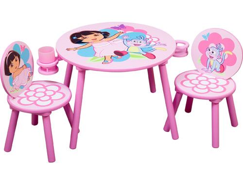 Iu0027ve heard about strollers with cupholders but kidsu0027 tables? On paper it sounds sort of silly but when you think about it it makes total sense.  sc 1 st  Celebrity Baby Blog - People & Toy Fair 2009: Dora the Explorer and Hot Wheels Tables and Chairs ...