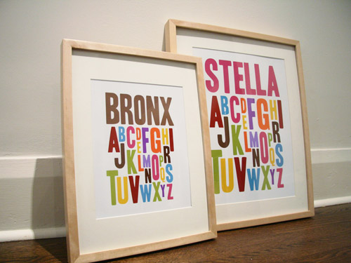Penny People Designs Alphabet Prints: A-B-C-D-liciously Awesome