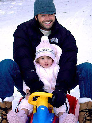 David Charvet with daughter Rain